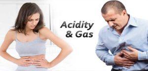Acidity is caused